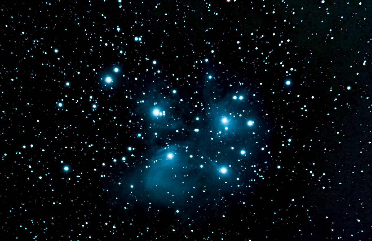The Pleiades, M45, in Taurus