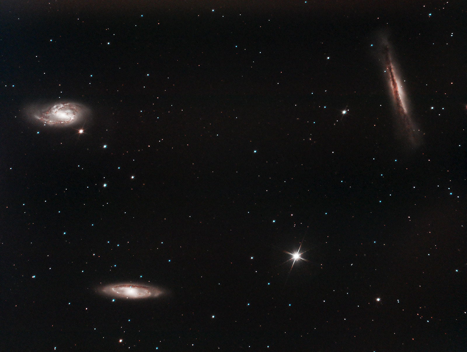 The Leo Triplet - M65, M66 and NGC3628