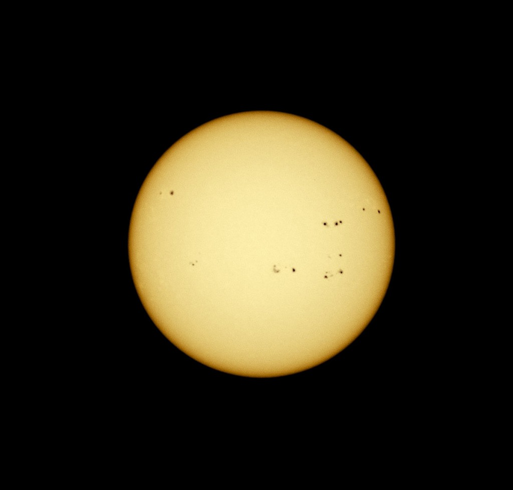Sun imaged April 18 2014
