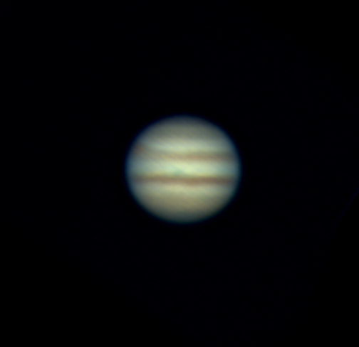 Jupiter Feb 7 2015 - South is up