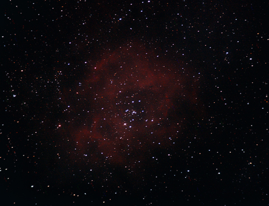 Rosette Nebula, 23 minutes Canon EOS400D iso 1600, WO 400mm scope