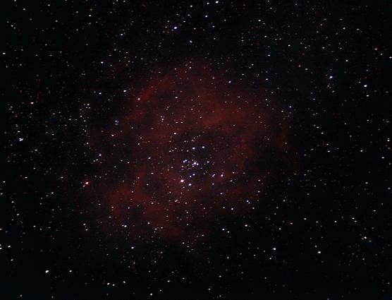 Rosette Nebula, 23 minutes Canon EOS400D iso 1600, WO 400mm scope