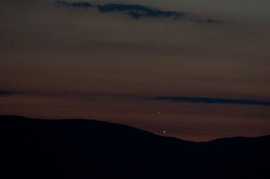 Venus and Jupiter from Helsington Church