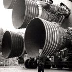 Saturn V engine exhausts