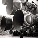 Saturn V engine exhausts
