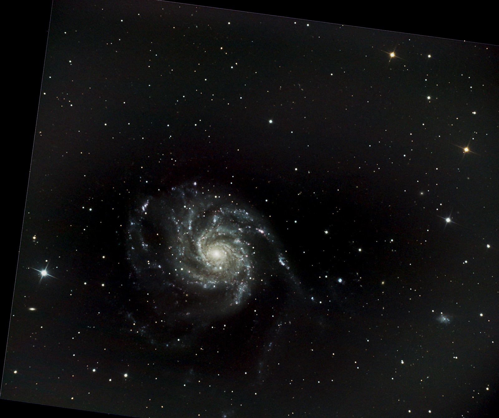 101 The Pinwheel Galaxy. Imaged from Kendal