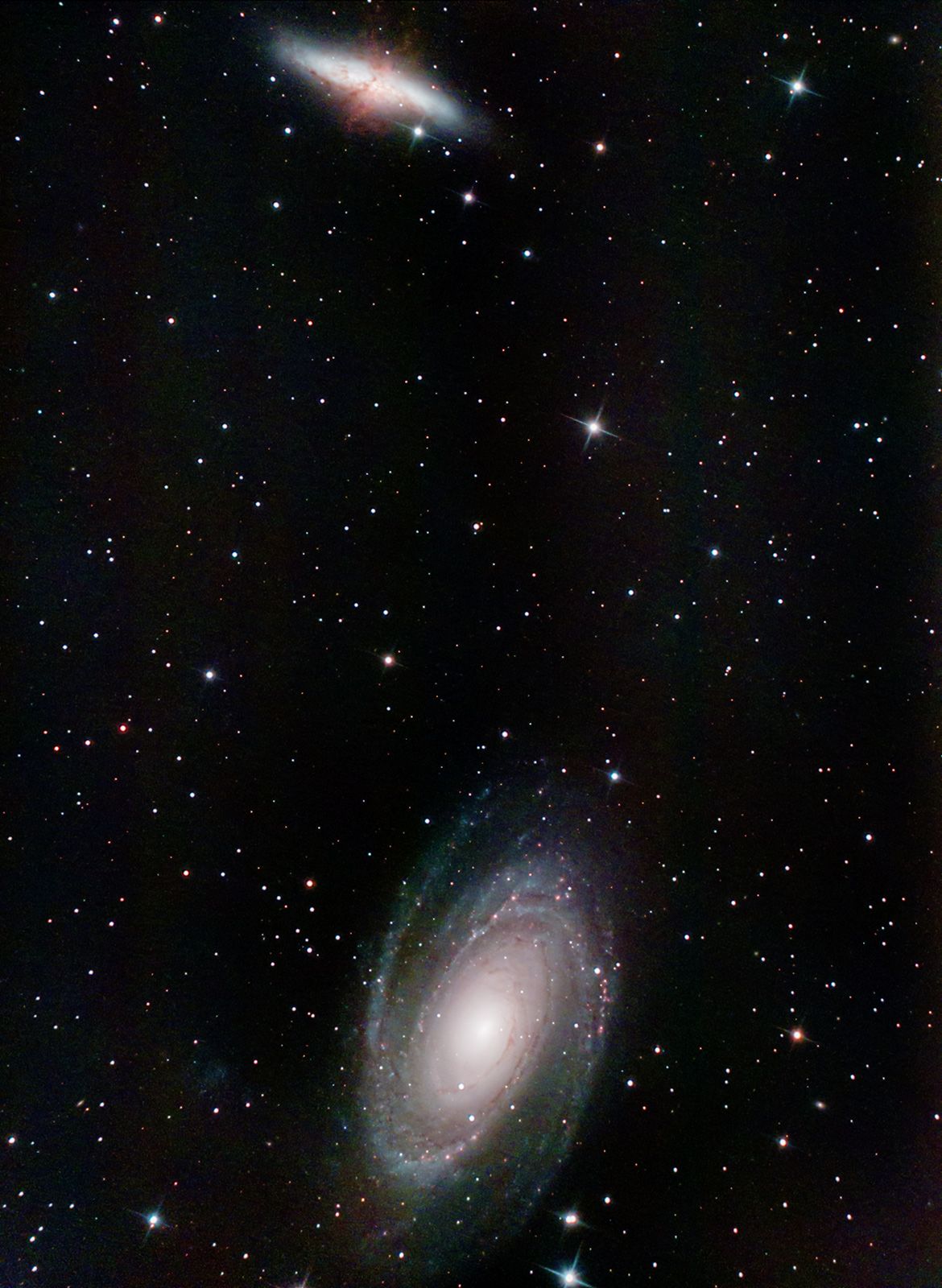 M81 & M82 in Ursa Major. Imaged from Kendal