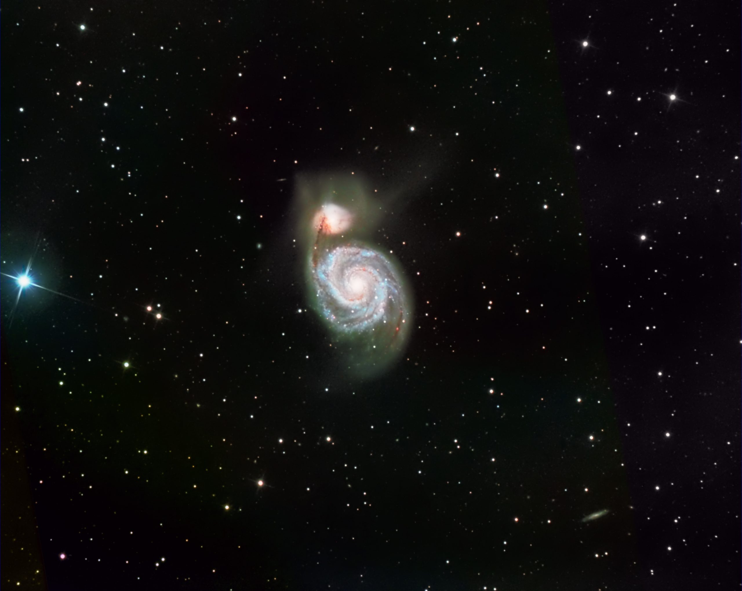 M51, the Whirlpool Galaxy. Imaged from Kendal