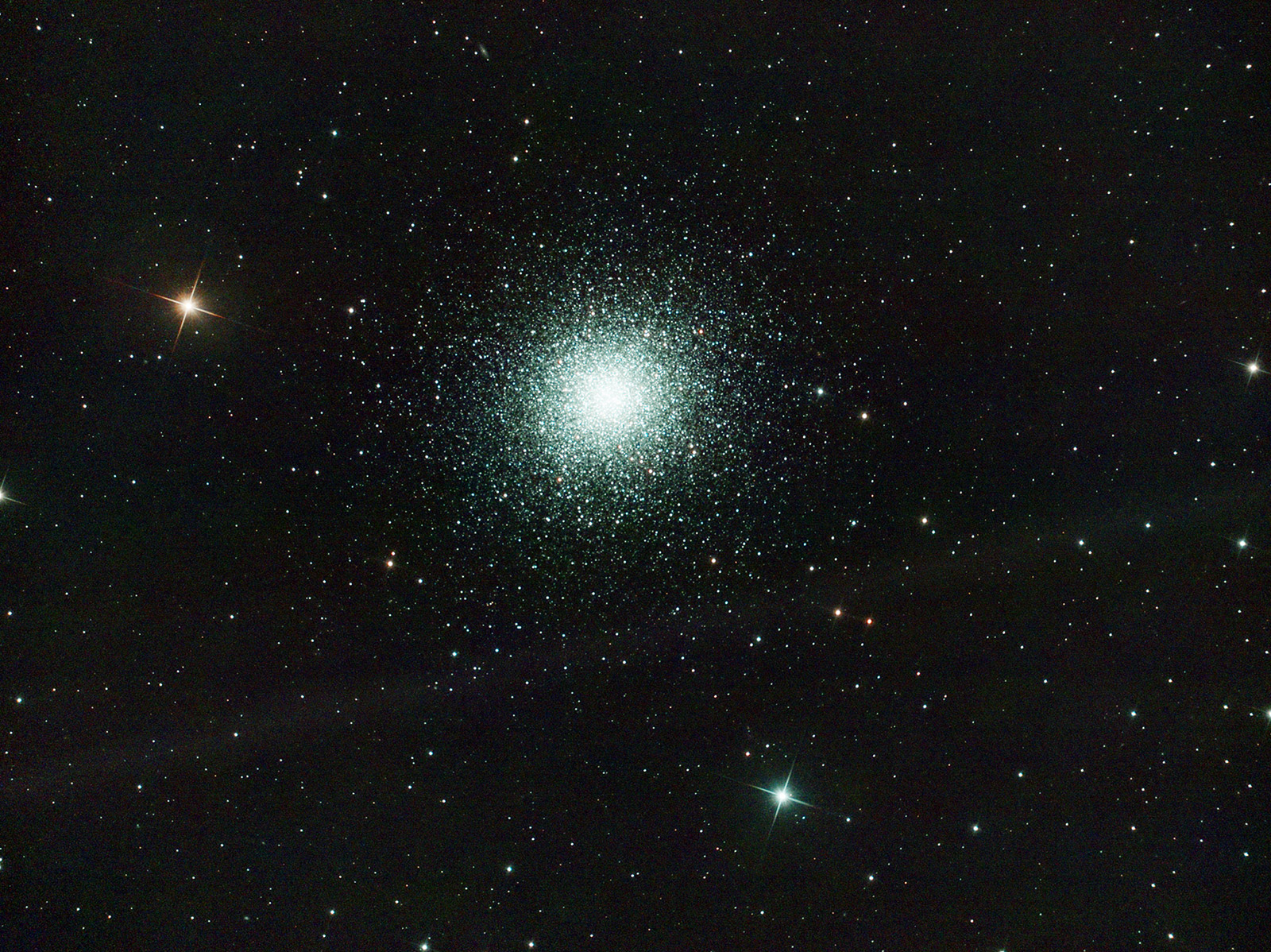 Globular cluster M13 in Hercules. Imaged from Kendal