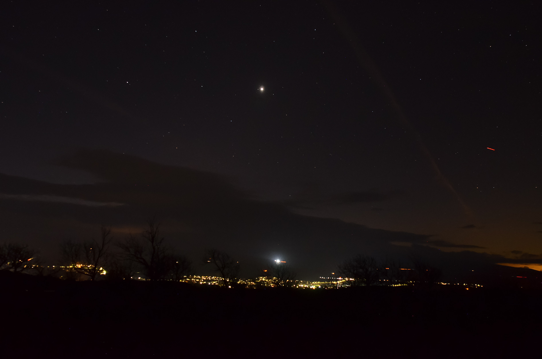 Venus rising over Kendal. 15th October 05:57 hrs. 24mm, 4 sec, f 2.8 iso 1600. Credit: Ted Woodburn